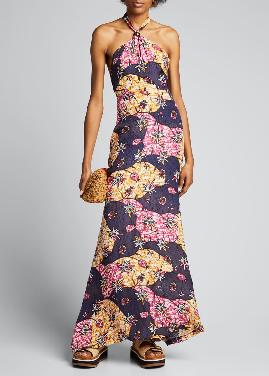 Warm Isla Printed Halter Maxi Dress