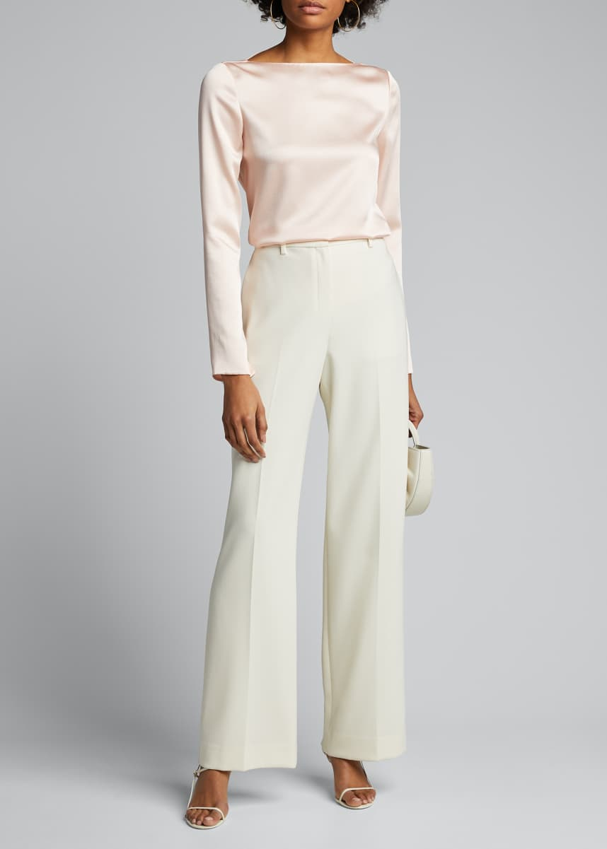 Jason Wu Collection Crepe Back Satin Cowl-Back Top