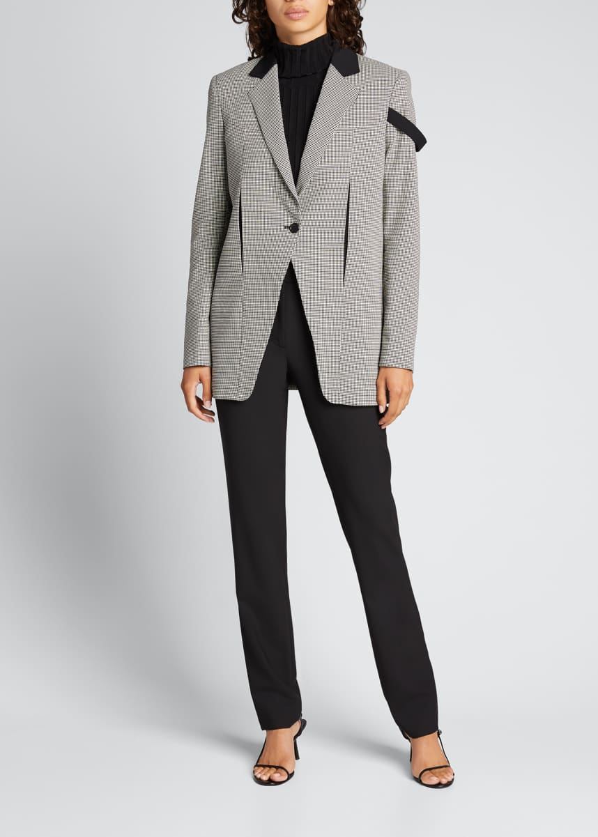 Coperni Connection Boxy Houndstooth Tailored Jacket