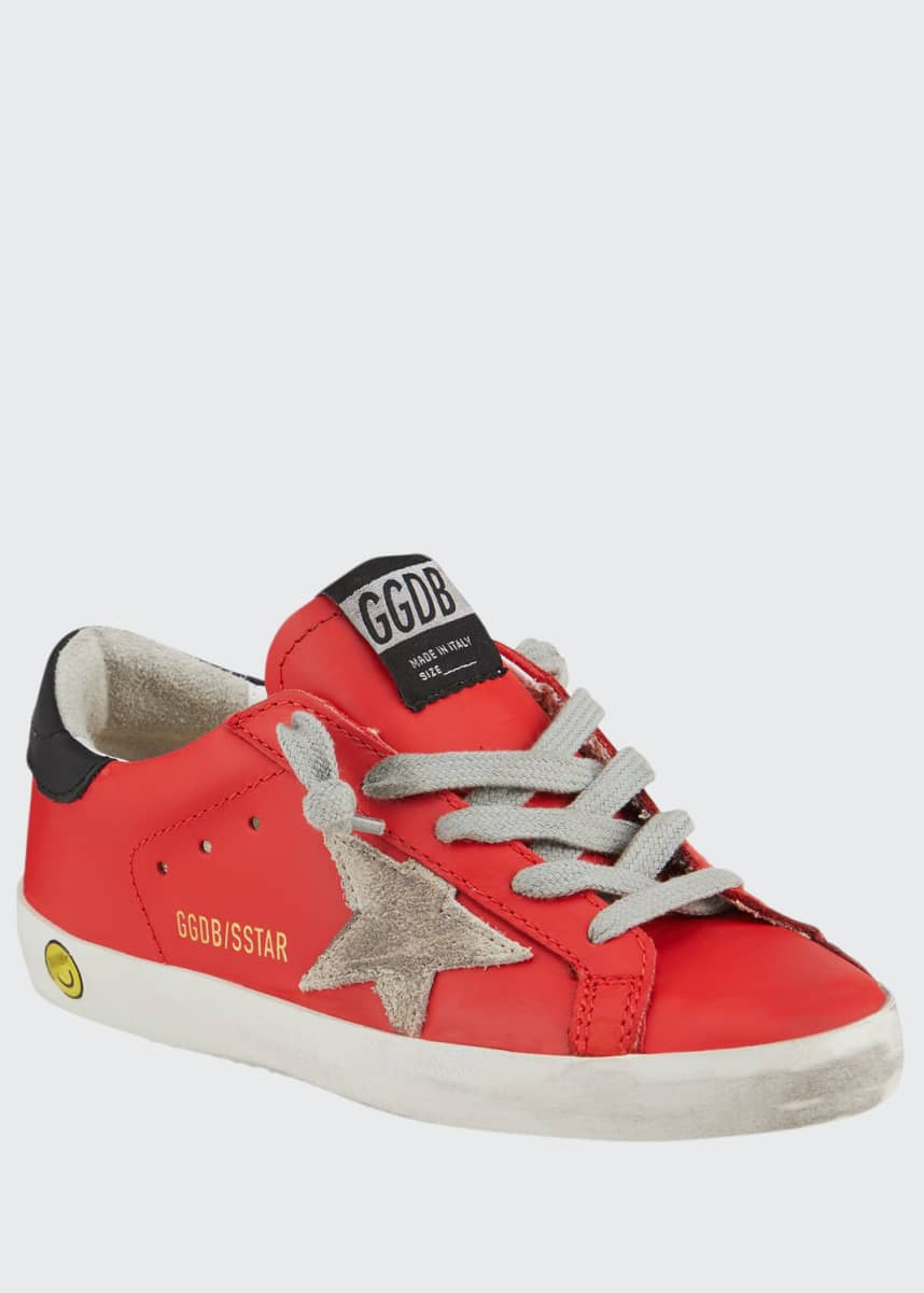 Golden Goose Girl's Superstar Leather Low-Top Sneakers, Kids