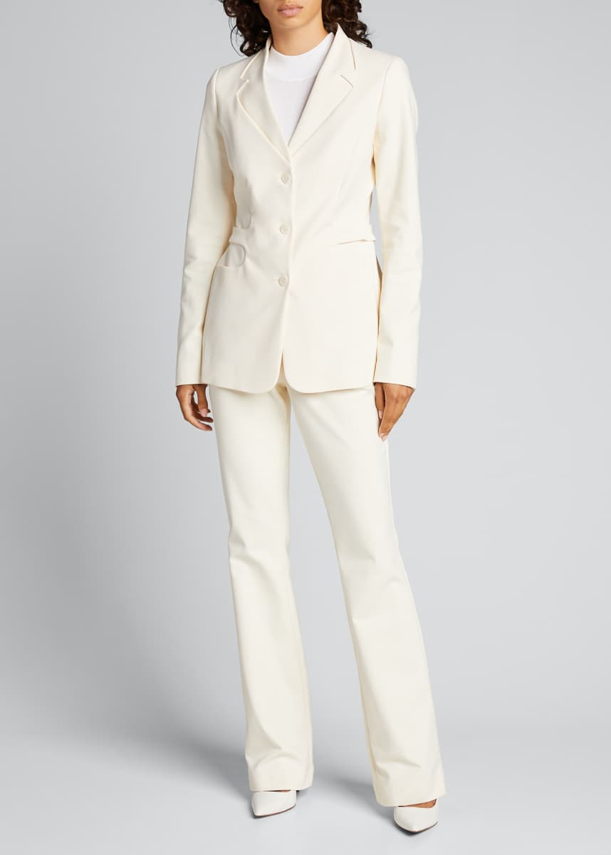 Coperni Trompe L'Oeil Belted Tailored Jacket