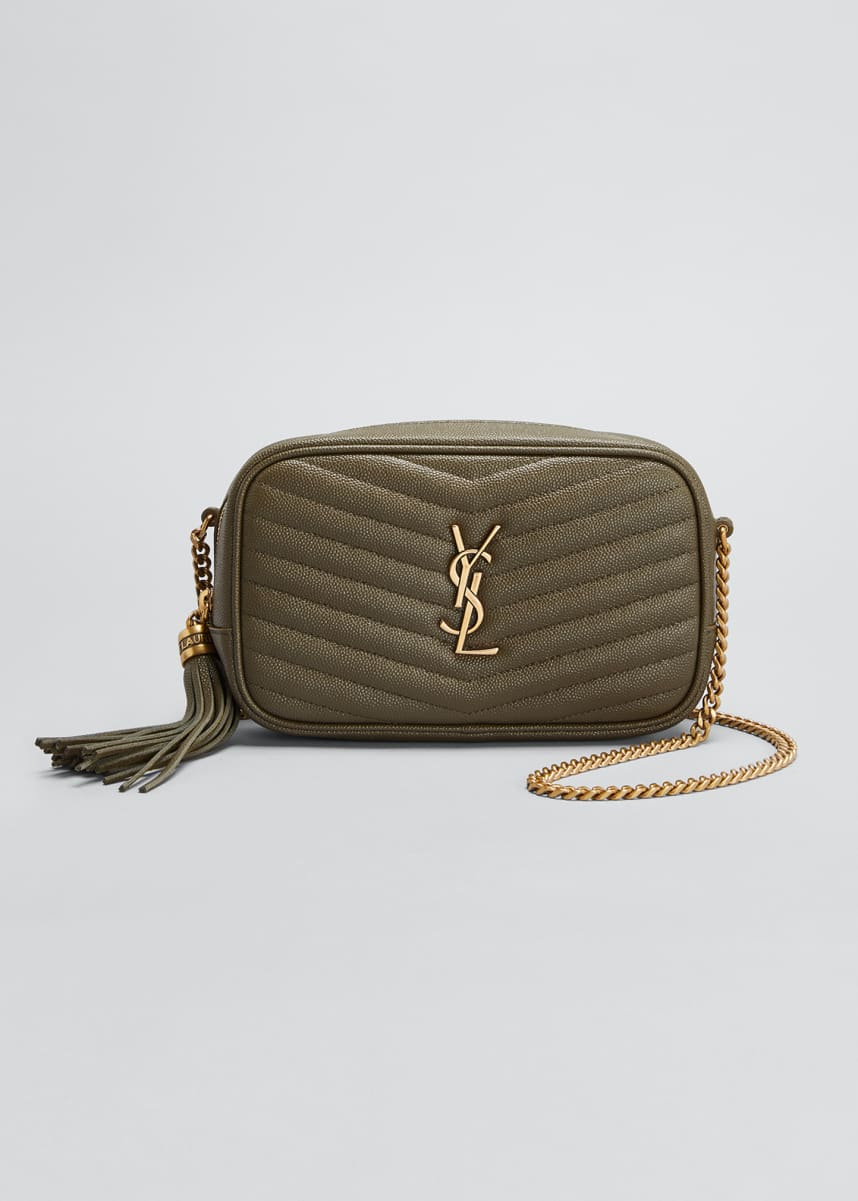 Saint Laurent Lou Mini Monogram YSL Quilt Calf Camera Bag