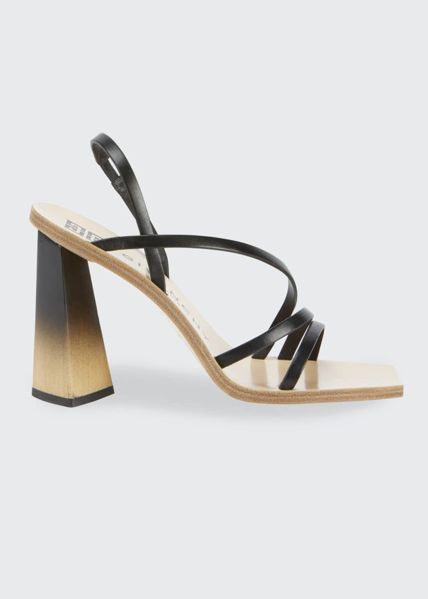 Givenchy 100mm Strappy Leather Ombre-Heel Sandals