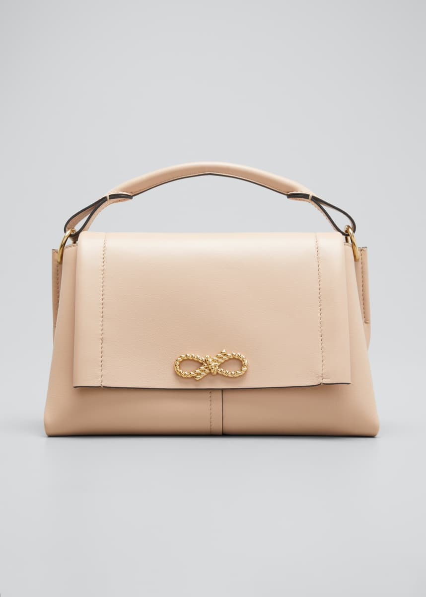 Anya Hindmarch Rope Bow Bag in Soft Leather