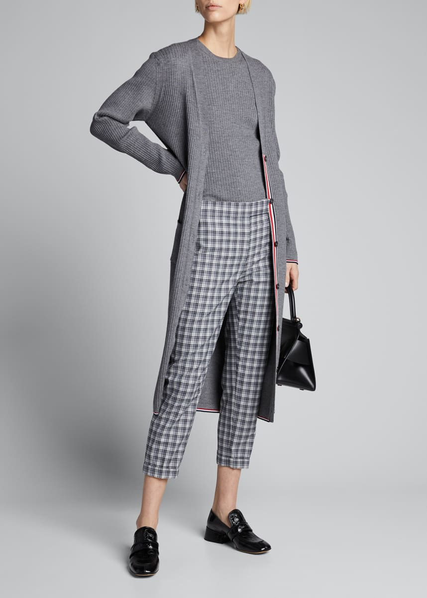Thom Browne Buffalo Check Low-Rise Skinny Trousers