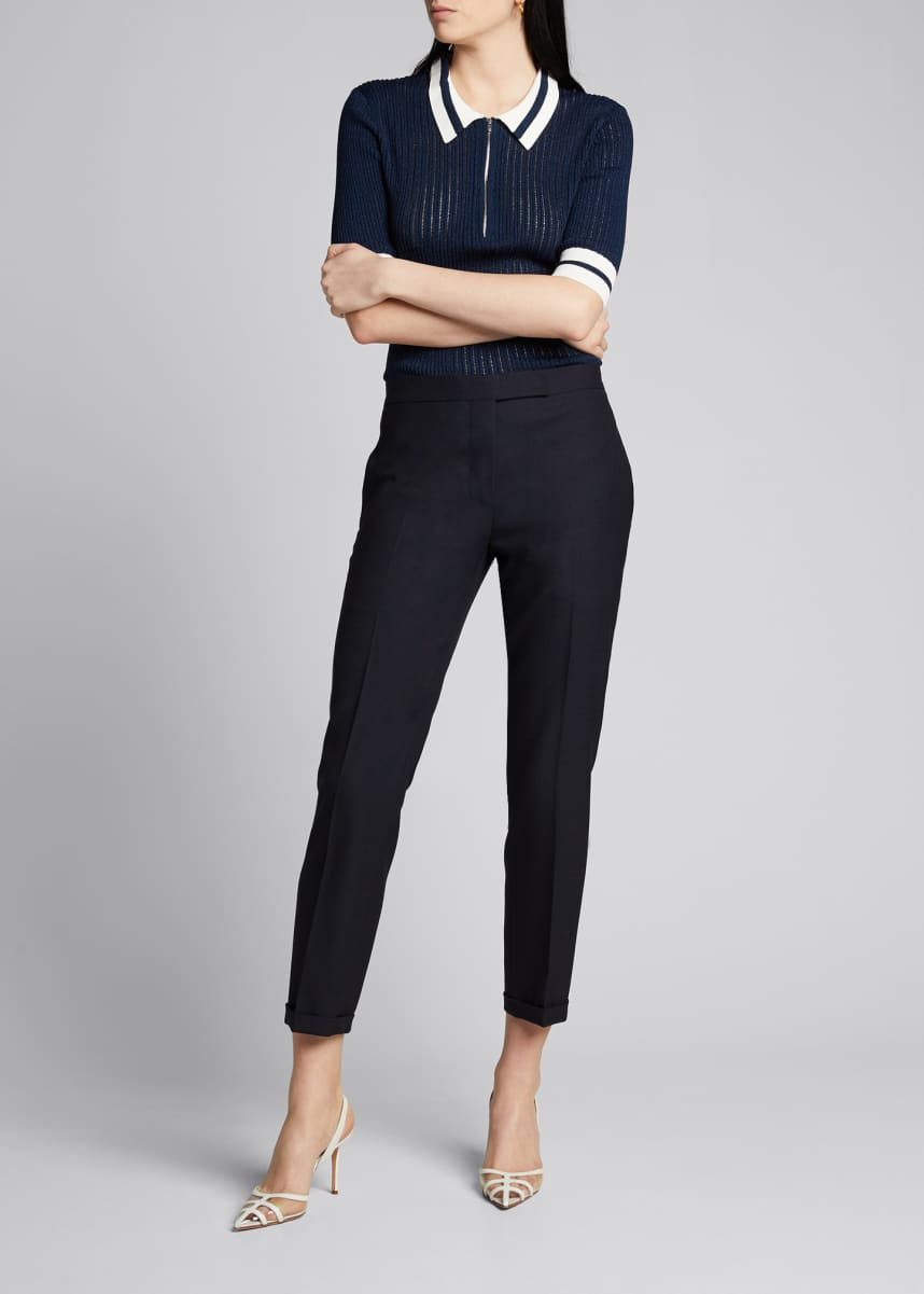 Thom Browne Low-Rise Skinny Cropped Trousers