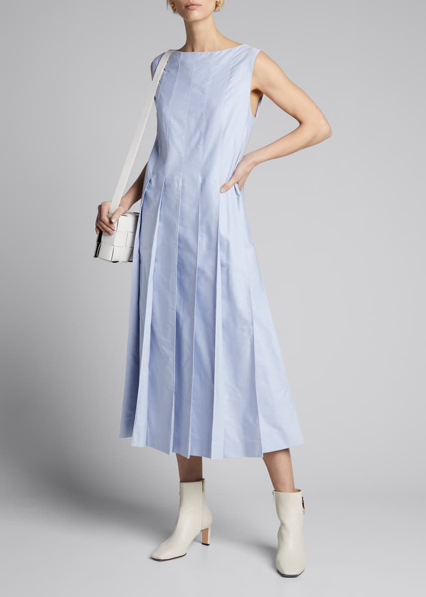 Thom Browne Oversized Column Pleated Dress