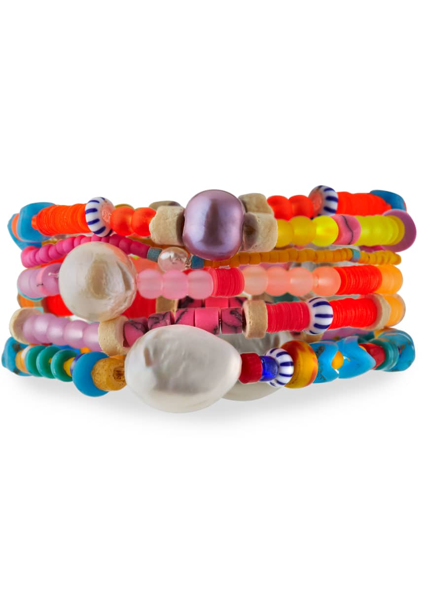 Dannijo Coco Stretch Bracelets, Set of 5