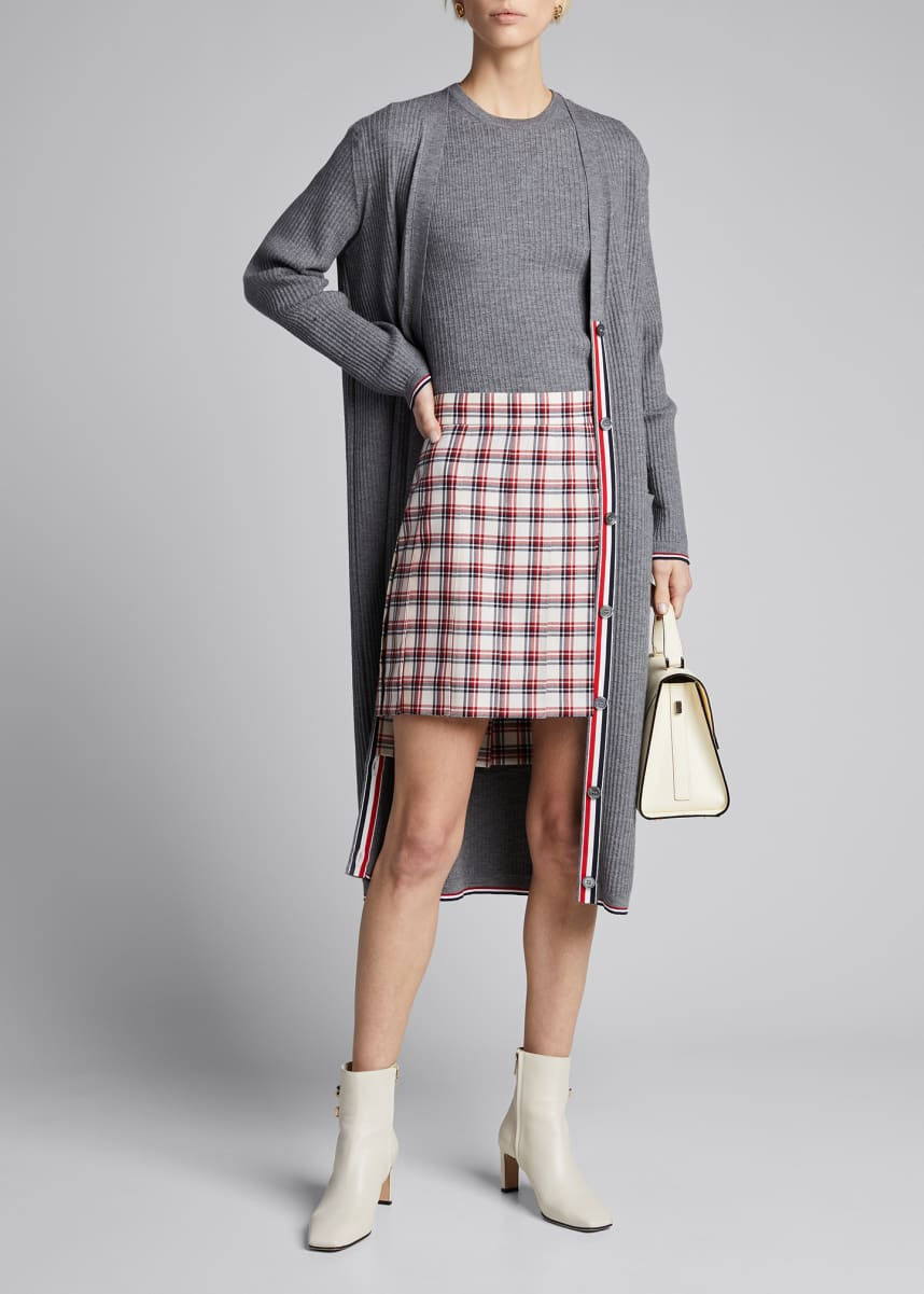 Thom Browne Dropped Back PlaMini Skirt
