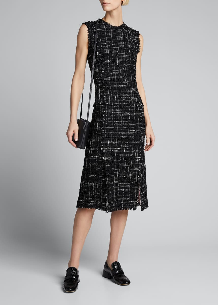 Thom Browne Tweed Vented Pencil Dress