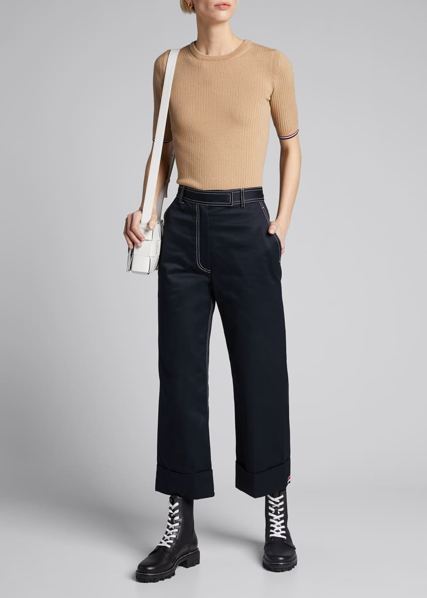 Thom Browne Straight Leg Boyfriend Trousers