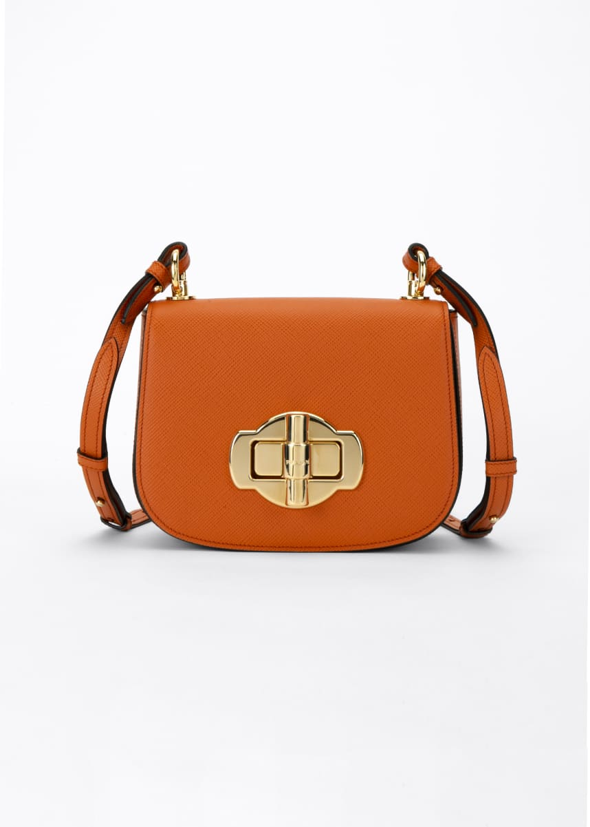 Prada Pattina Crossbody Saddle Bag