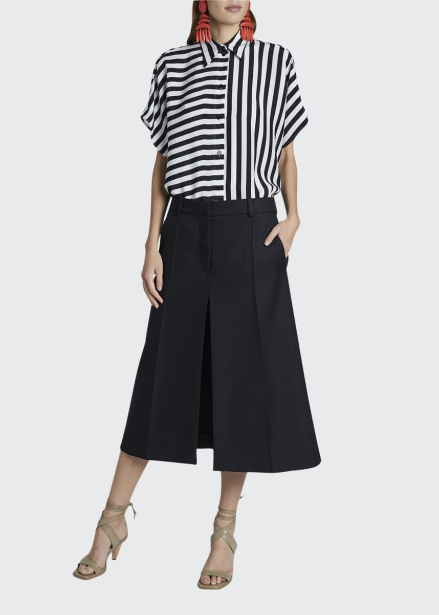 Stella McCartney Midi Skirt with Front Slit