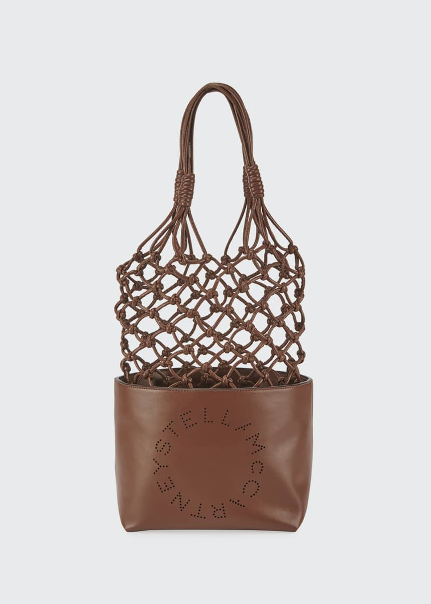 Stella McCartney Alter Nappa Knotted Bucket Tote Bag