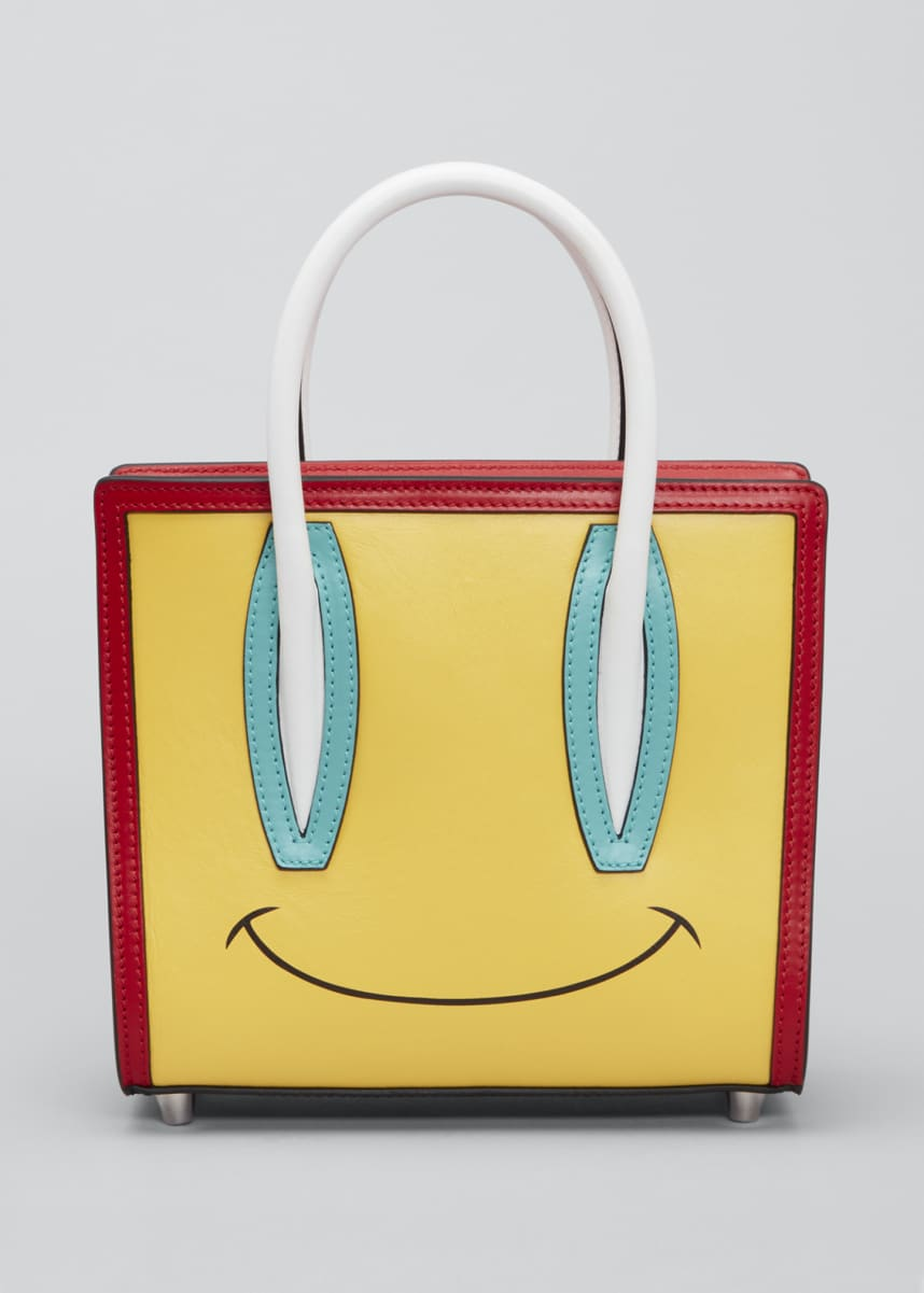 Christian Louboutin Paloma S Mini Smiley Calf Empire Tote Bag