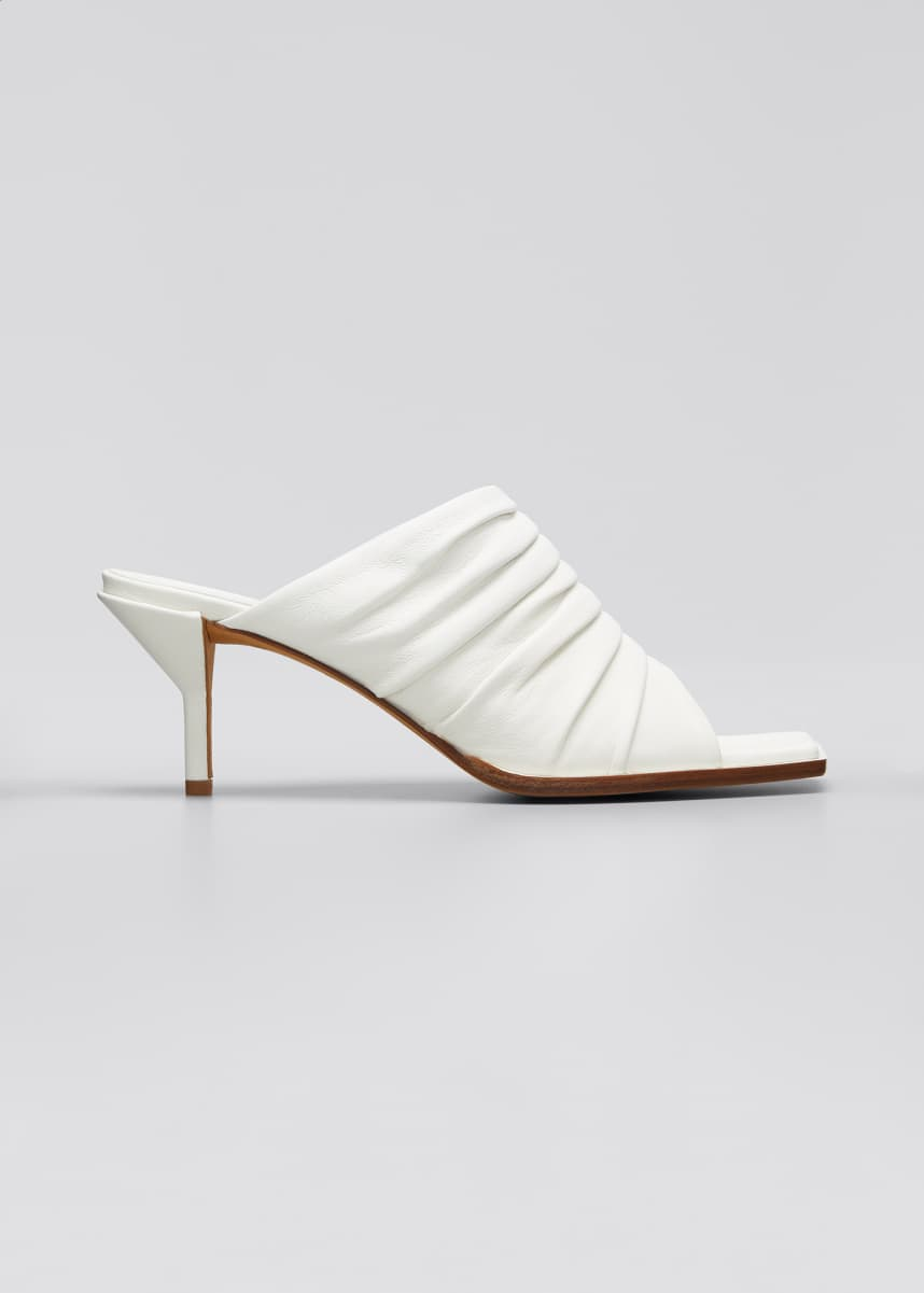 3.1 Phillip Lim Georgia Ruched Mule Sandals