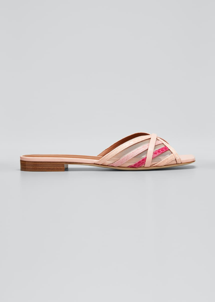Malone Souliers Pim Multi-Striped Mesh Sandals