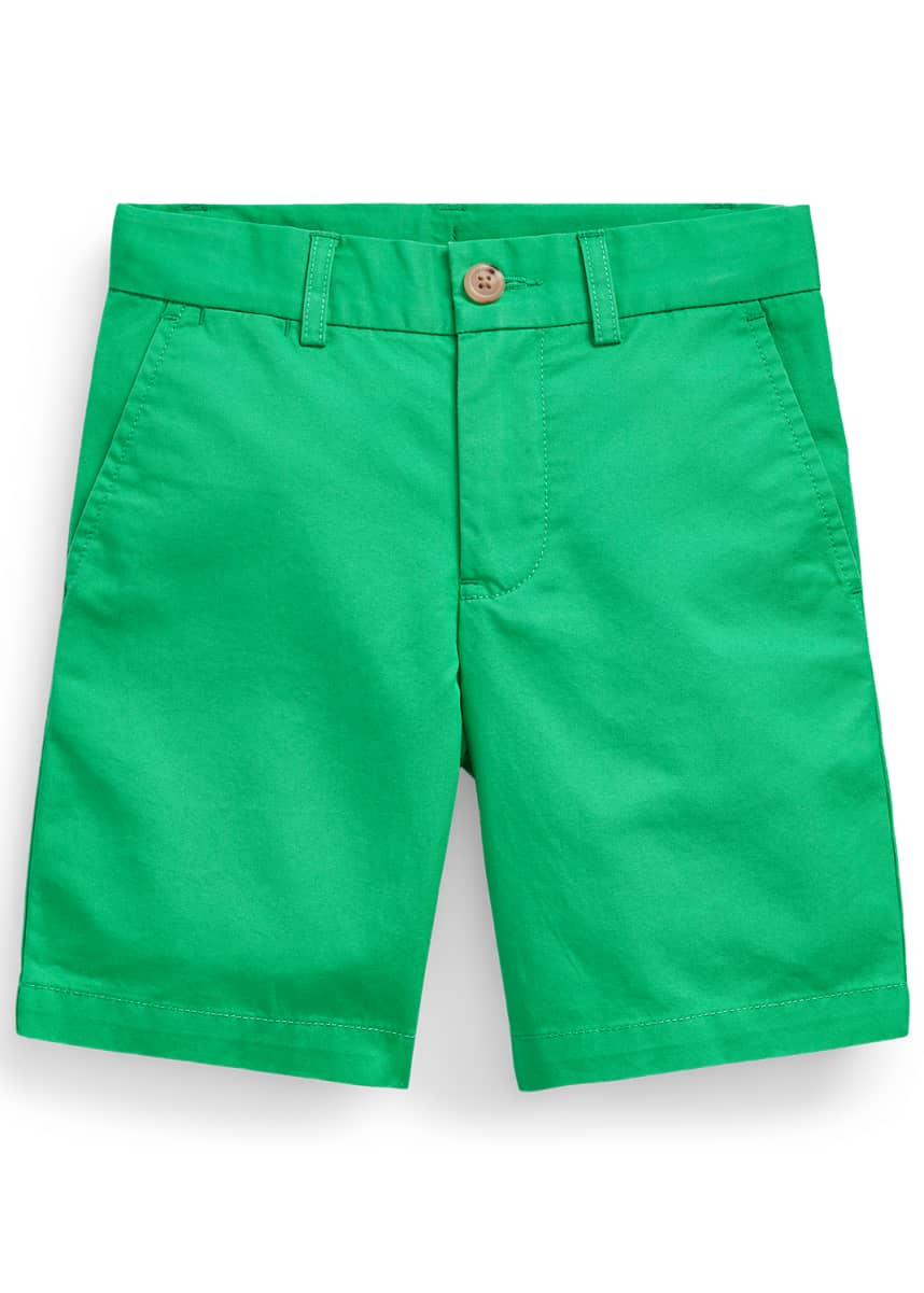 Ralph Lauren Childrenswear Boy's Tissue Chino Flat-Front Shorts, Size 5-7