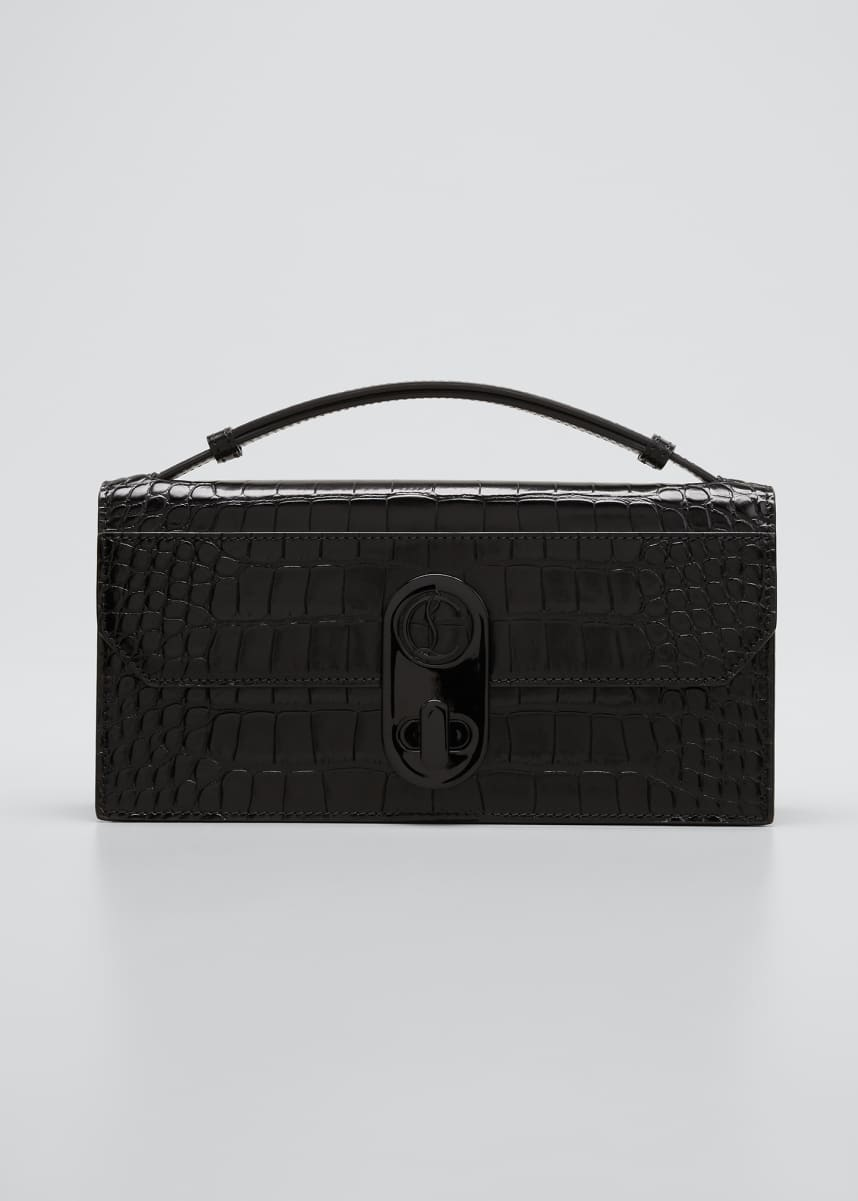 Christian Louboutin Elisa Slim Croco Top-Handle Bag