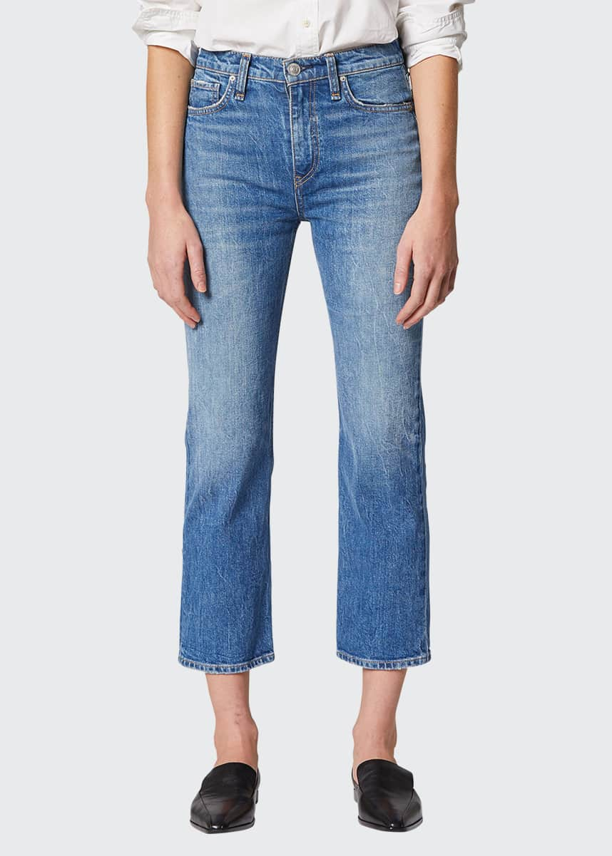 Hudson Remi High Rise Straight Crop Jeans