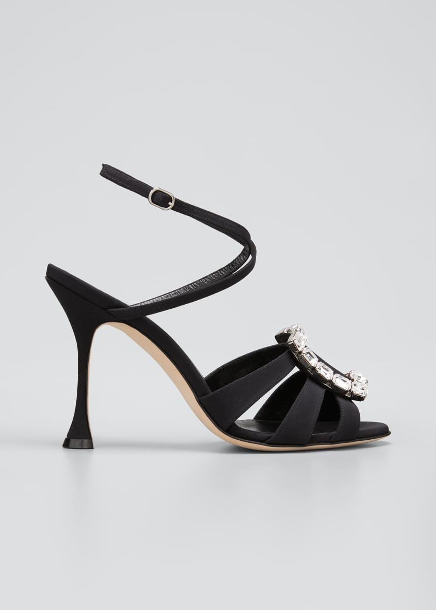 Manolo Blahnik Ticuna Buckle Strappy Sandals