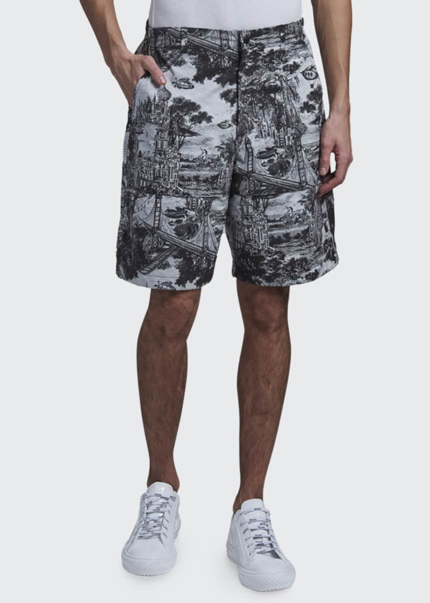 Valentino Men's Dreamatic Wide-Leg Shorts