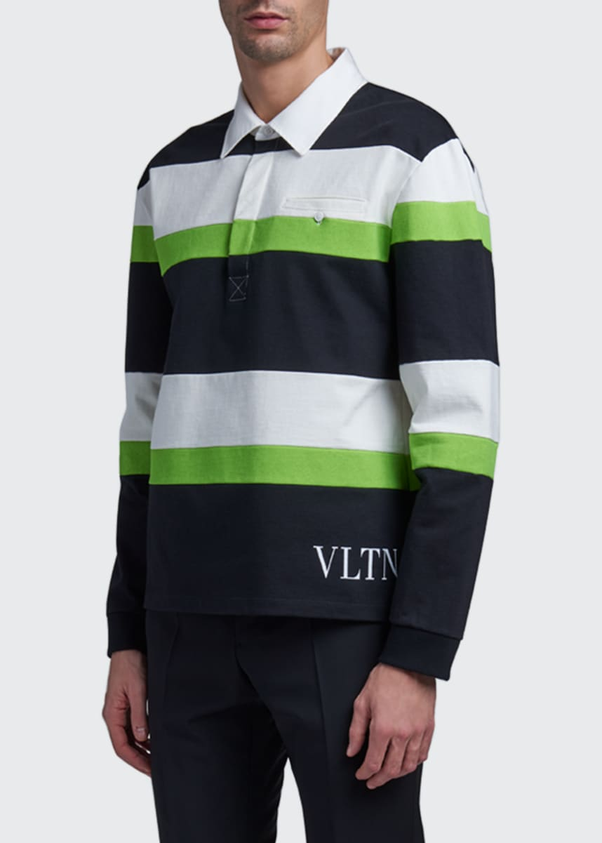 Valentino Men's VLTN Long-Sleeve Rugby Polo Shirt