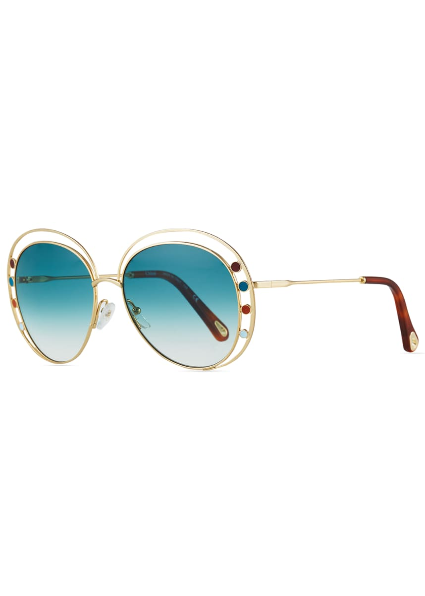 Chloe Butterfly Halo Metal Sunglasses