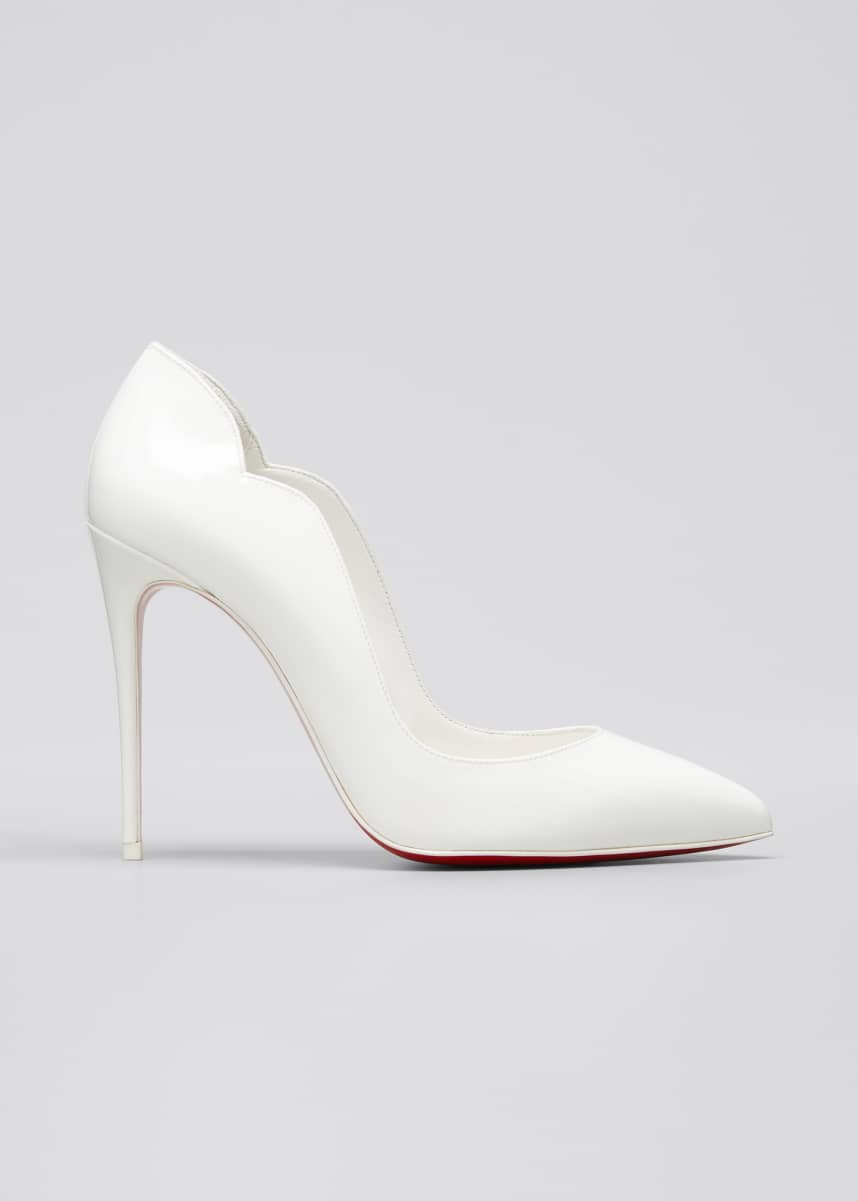 Christian Louboutin Hot Chick 100mm Patent Red Sole Pumps