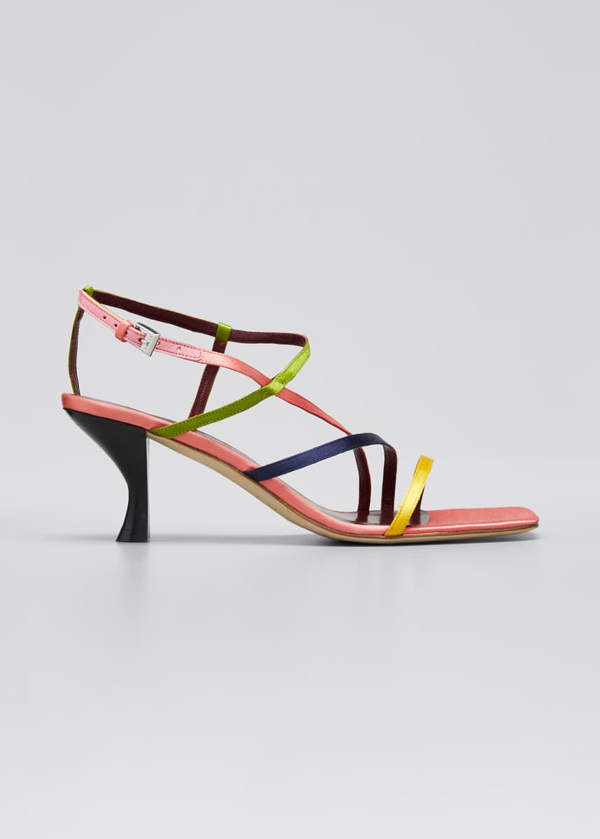 Staud 60mm Multicolor Strappy Sandals