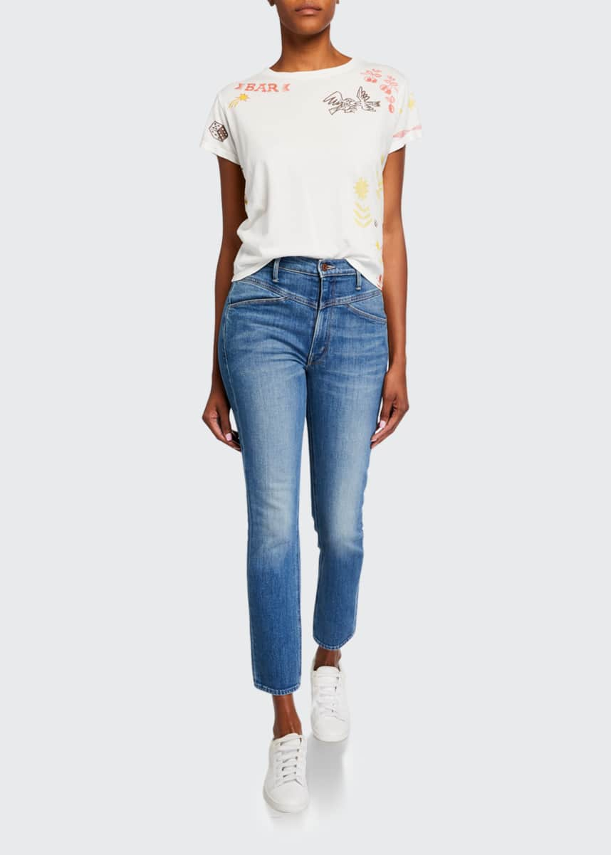 MOTHER The Dazzler Yoked-Front Ankle Jeans
