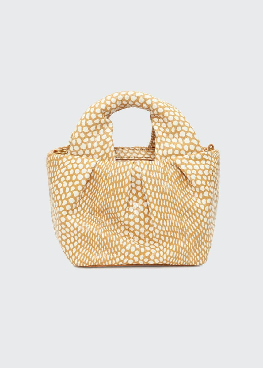 Staud Lera Snake-Embossed Top-Handle Bag