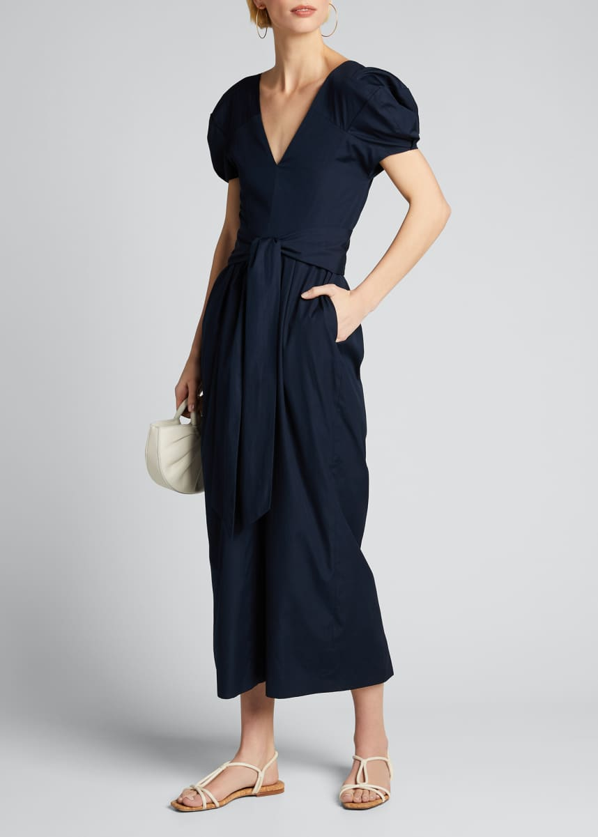 Gabriela Hearst Arethusa Puff-Sleeve Dress