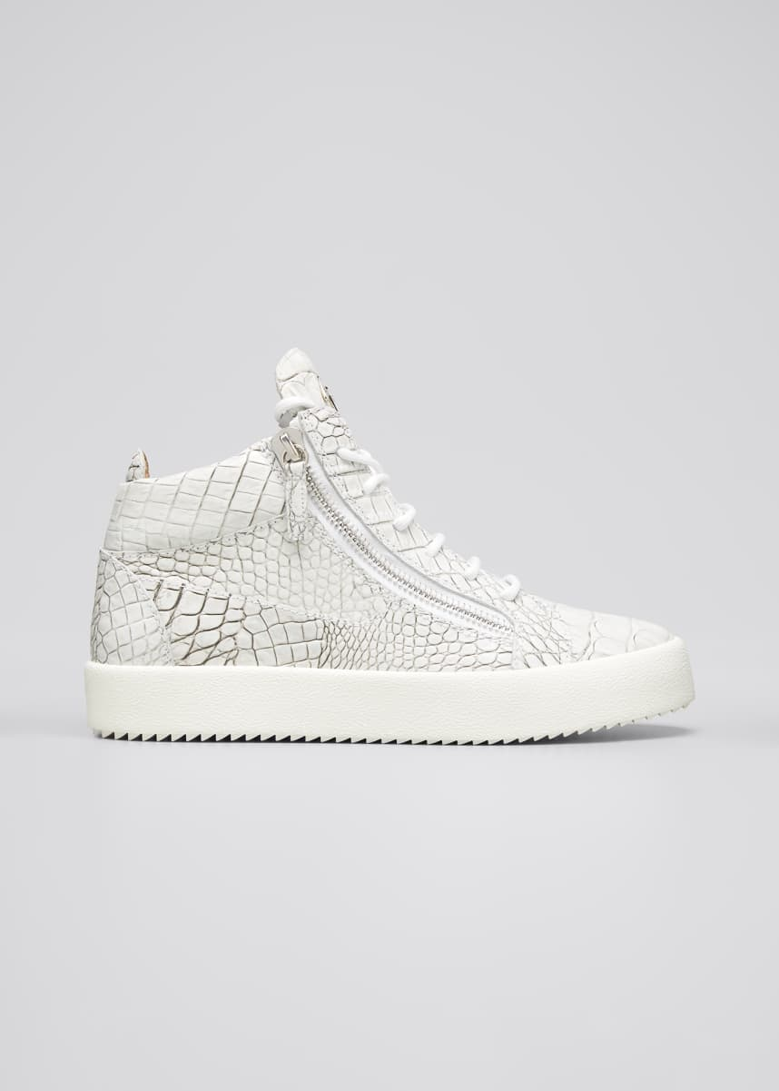 Giuseppe Zanotti Men's May London Croc-Embossed Sneakers