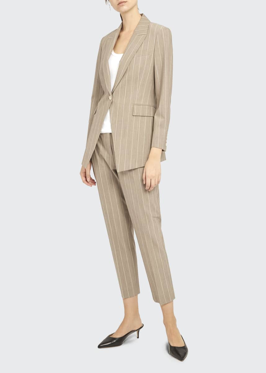 Theory Etiennette Traceable Wool Striped Blazer