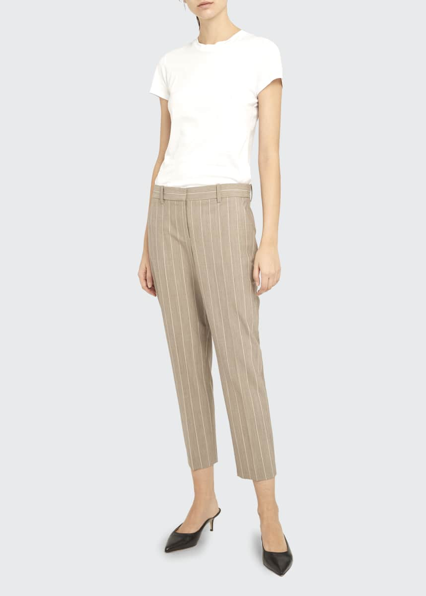 Theory Treeca 2 Traceable Wool Striped Pants