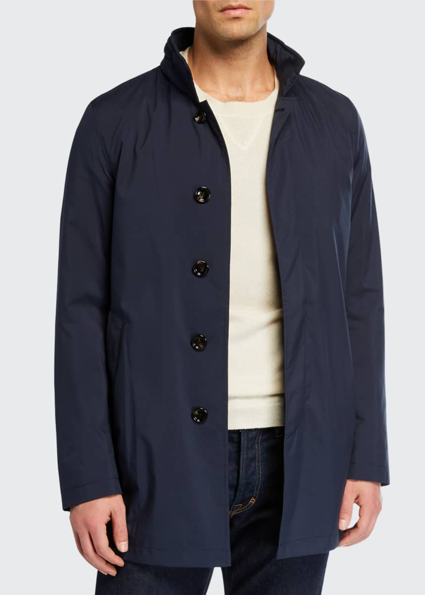 MANTO Men's Technical Stretch Raincoat, Navy