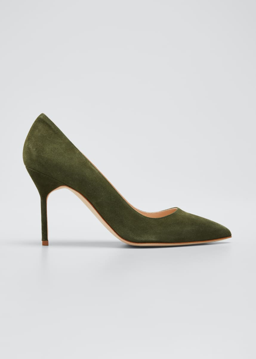 Manolo Blahnik BB 90mm Suede Stiletto Pumps