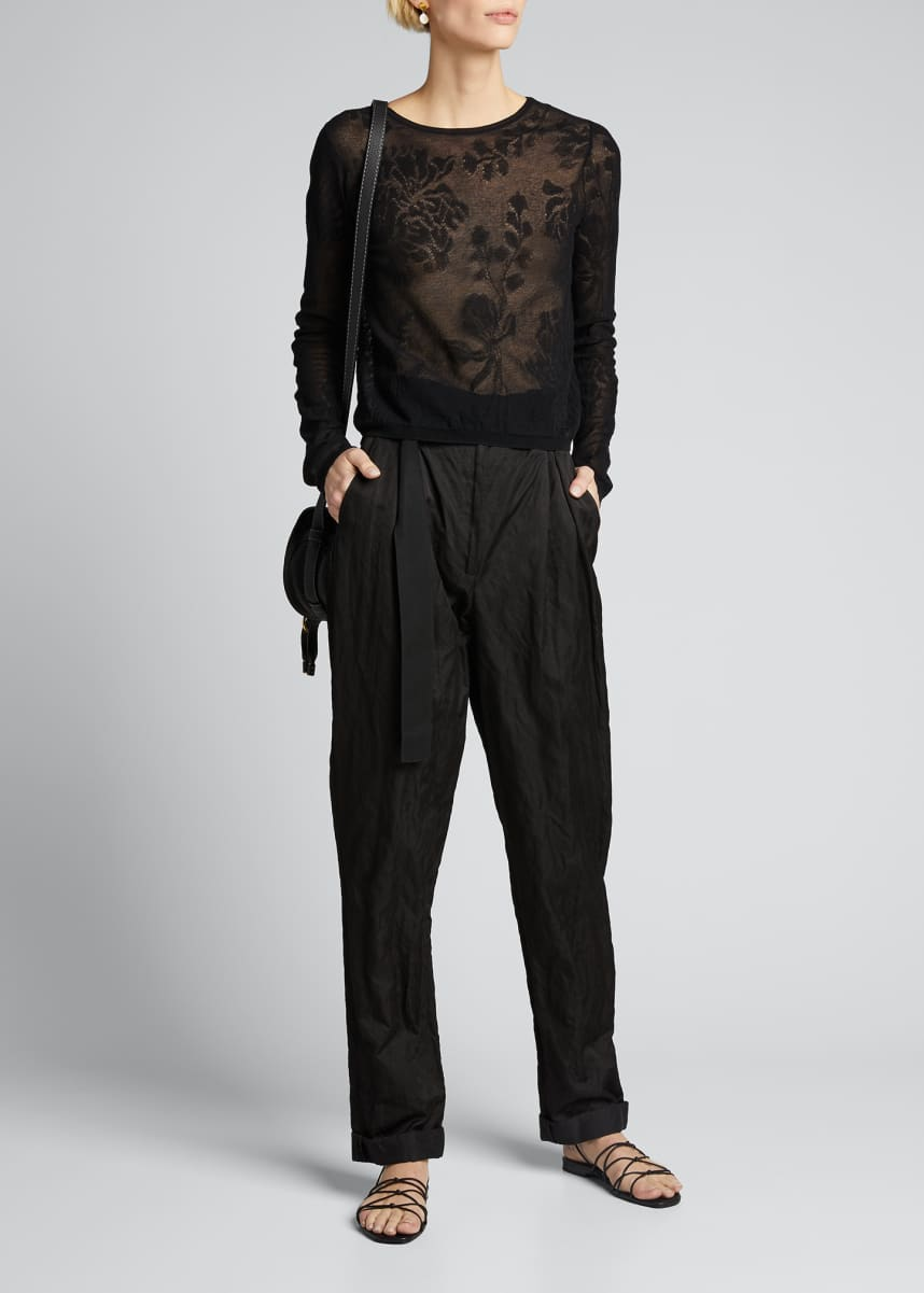 Vince Floral Lace Stitch Pullover