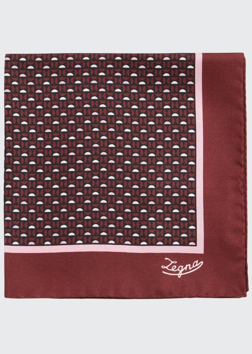 Ermenegildo Zegna Men's Semicircle Silk Pocket Square