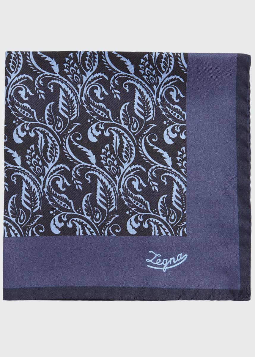 Ermenegildo Zegna Men's Paisley Silk Pocket Square