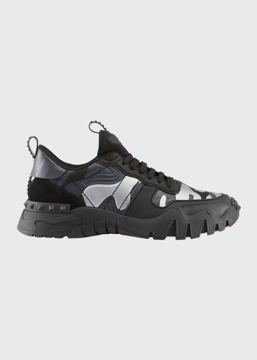 Valentino Men's Rockrunner Plus Camo Sneakers