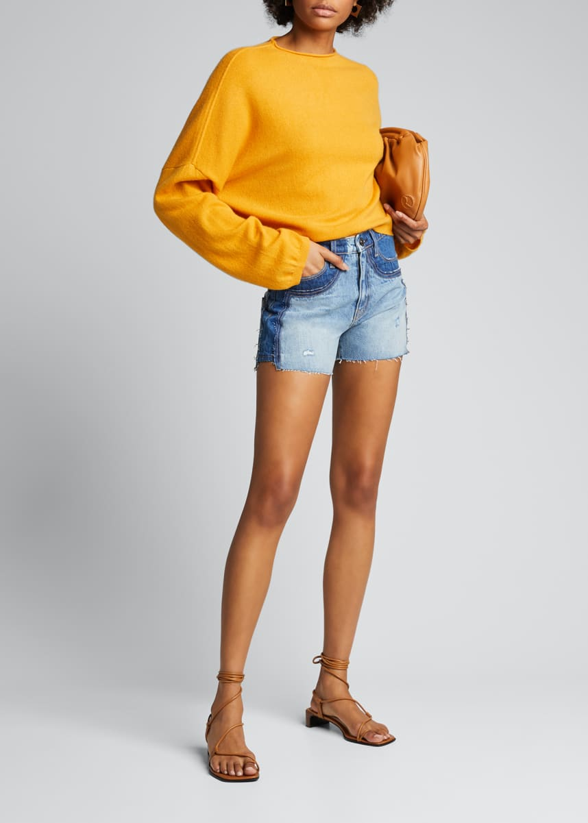 Hudson Double Jean Cutoff Shorts