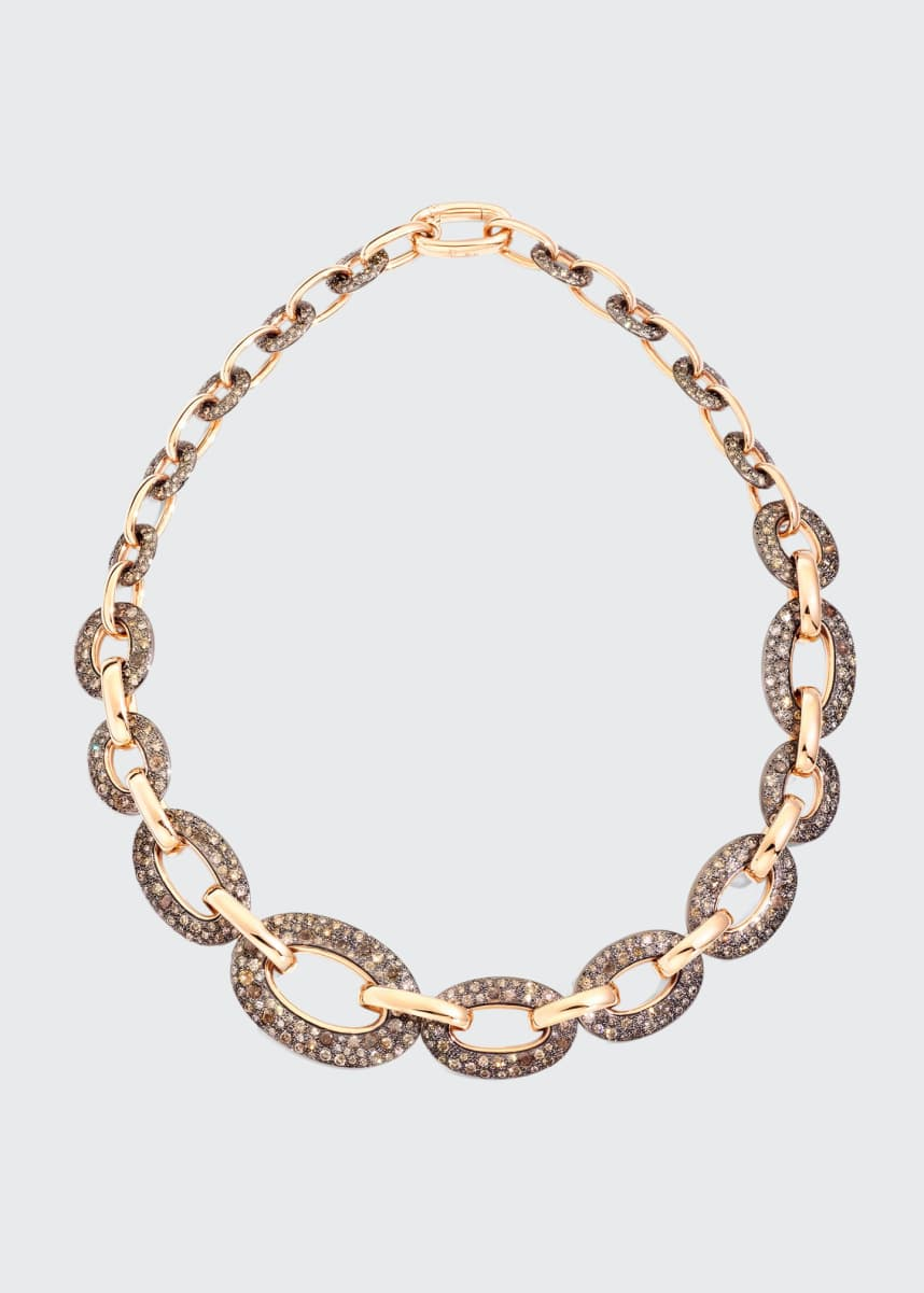 Pomellato Tango 18k Rose Gold Brown Diamond Collar