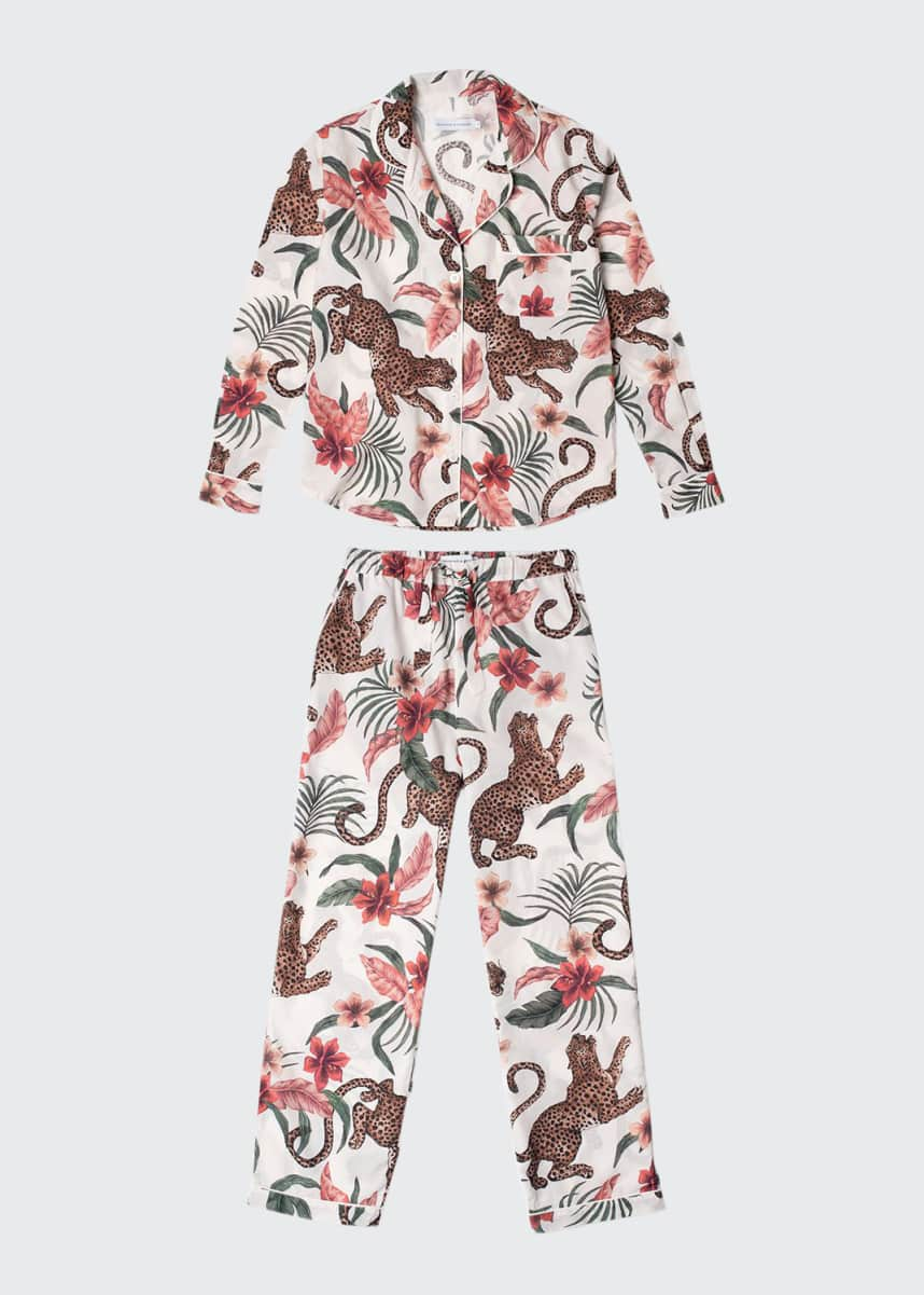 Desmond & Dempsey Soleia Cotton Long Pajama Set