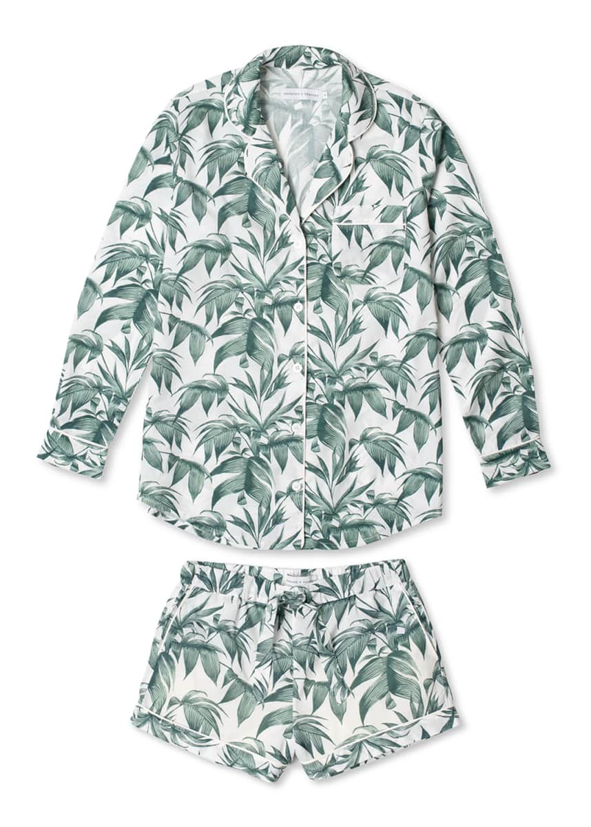 Desmond & Dempsey Byron Signature Long-Sleeve Short Pajama Set