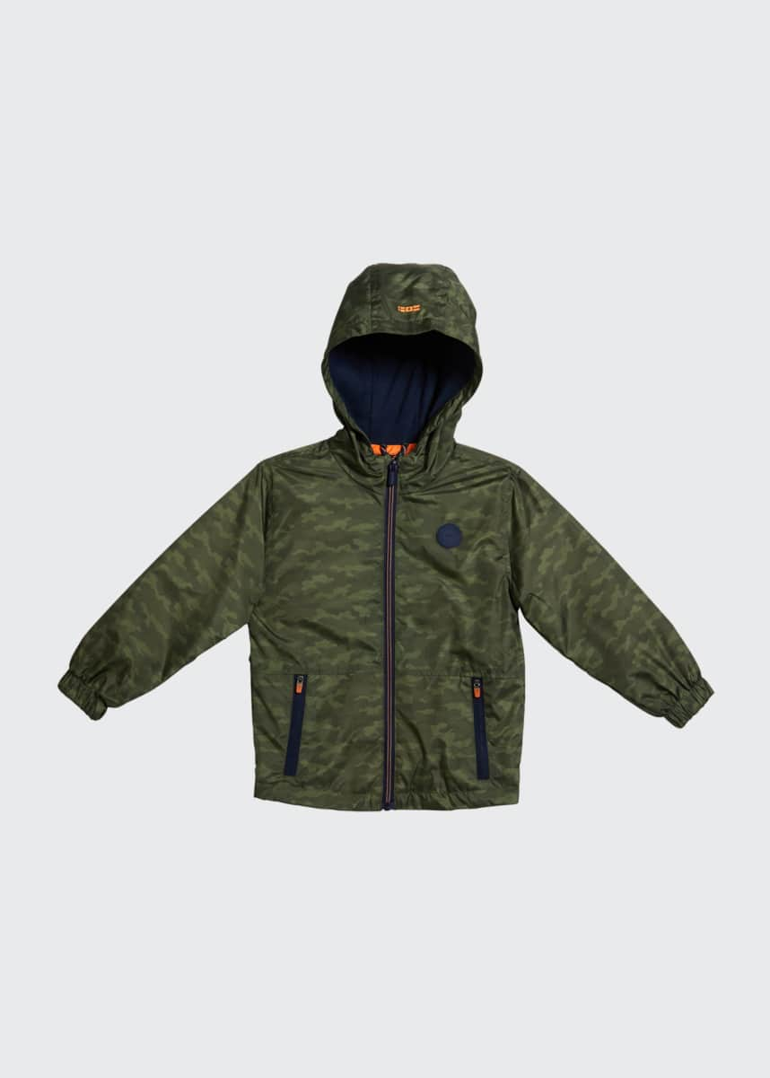 Mayoral Boy's Camouflage Wind-Resistant Hooded Jacket, Size 4-7