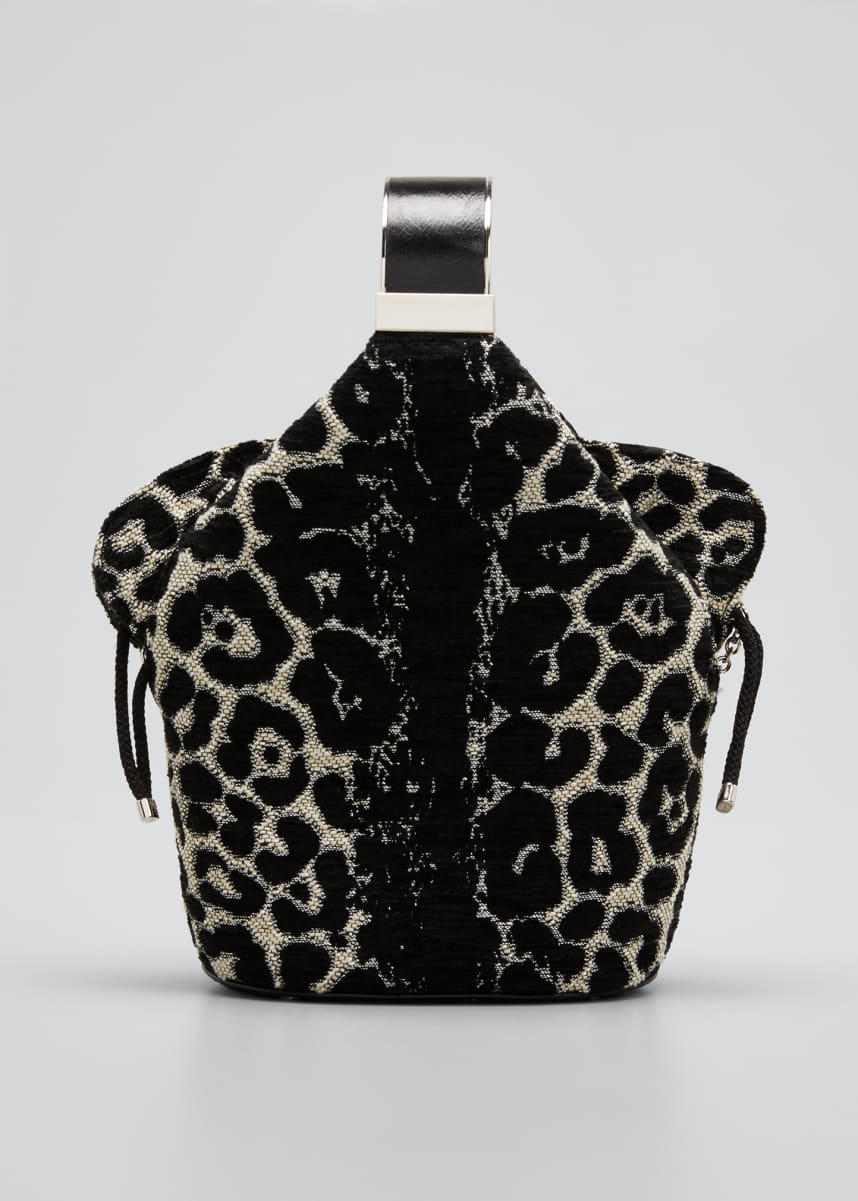 Bienen Davis Kit Safari Leopard-Print Chenille Bucket Bag
