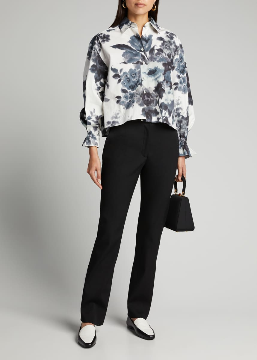 Carolina Herrera Crepe Straight-Leg Pants
