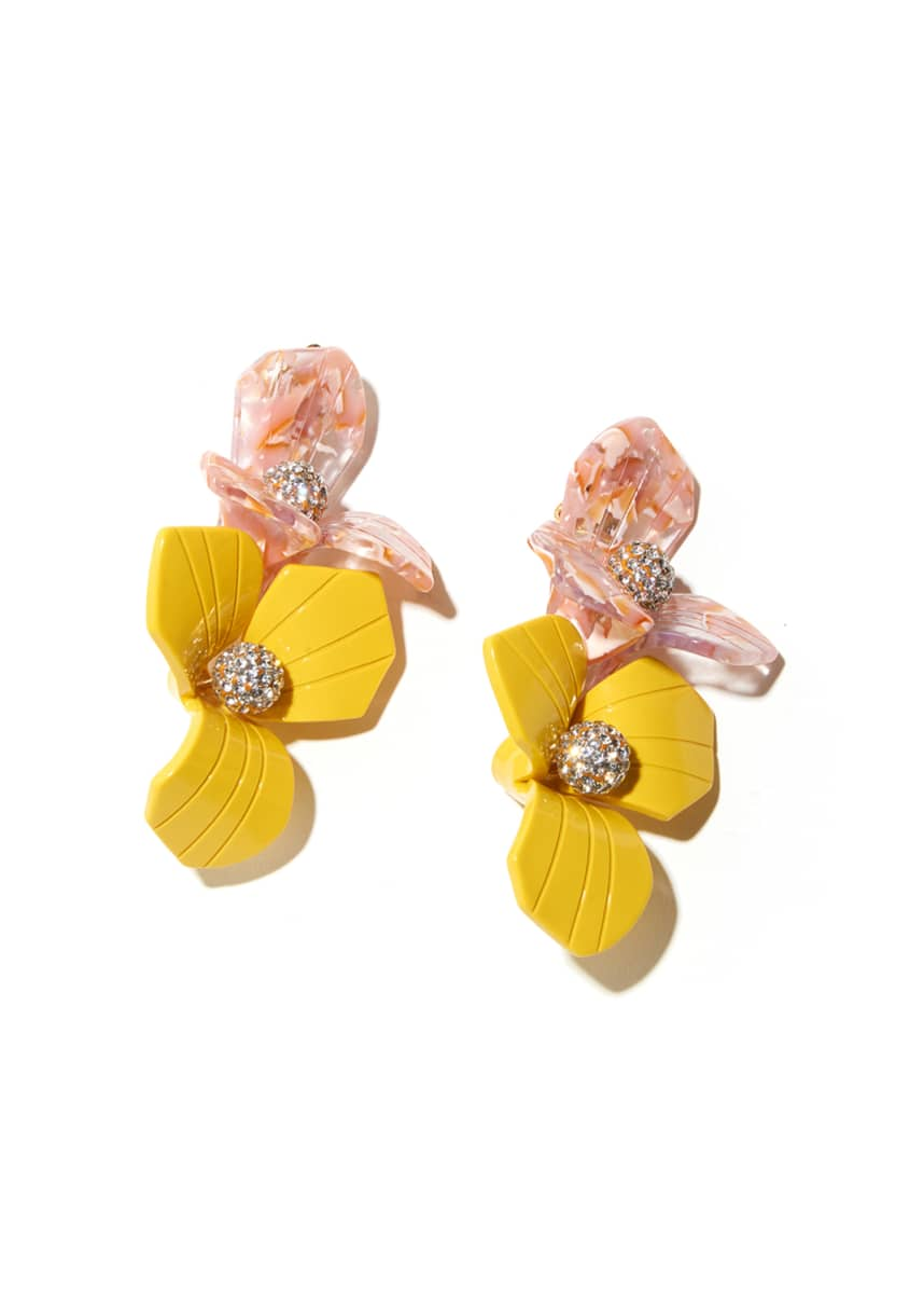 Lele Sadoughi Trillium Bouquet Clip Earrings
